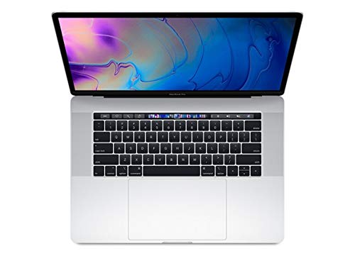 Apple MacBook Pro 15-inch w/ Touch Bar (Mid 2018), 220ppi Retina Display, 6-Core Intel Core i7, 512GB PCIe SSD, 16GB RAM, macOS 10.13, Silver (Renewed)