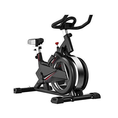 DJDLLZY Bicicletas estáticas, bicicletas de spinning, Inicio de silencio interior Deportes bicicleta, aerobic, libremente ajustable, consola con la tableta representan, mostrar datos de Deportes, Negr