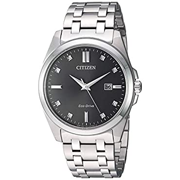 Mens Citizen Eco-Drive BM7100-59H Corso Watch with Grey Dial and Silver-Tone Bracelet