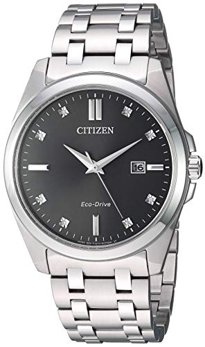 Citizen Eco-Drive Corso Quartz Mens Watch, Stainless Steel, Classic, Silver-Tone (Model: BM7100-59H)