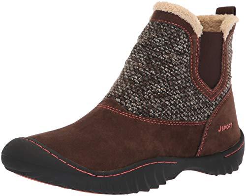 JSport by Jambu Womens Kendall Ankle Boot, Brown, 7.5 Medium US