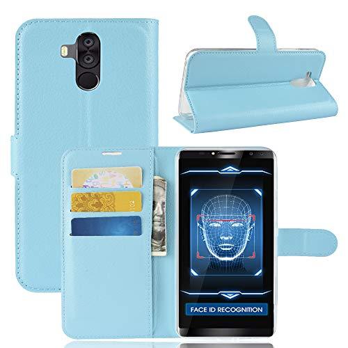 SHIEID Hülle für Oukitel K6 Hülle Brieftasche Hülle Kunstleder Handyfall Geeignet für Oukitel K6(Blau)