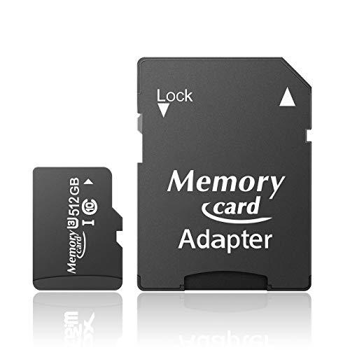 Elisubabau マイクロ SD カード フルHD 高速転送100MB s 5年保証 A1規格 超高速起動 防水設計 SD アダプタ付–A(512GB)