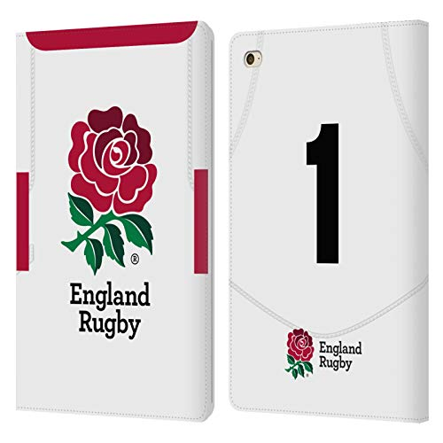 Official England Rugby Union Position 1 2020/21 Players Home Kit Leather Book Wallet Case Cover Compatible For Apple iPad mini 4
