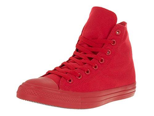 Converse Sneaker Alta Monocrome all Star Hi Rosso EU 42 (US 8.5)
