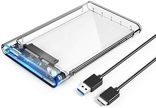 Orico Case Esterno per Disco Rigido 2.5'' USB 3.0 5Gbps Case Hard Disk per 7mm e 9.5mm SATA I II III HDD SSD 2.5 Pollici, Compatibile con Samsung, WD, Toshiba, Seagate, Hitachi, ECC