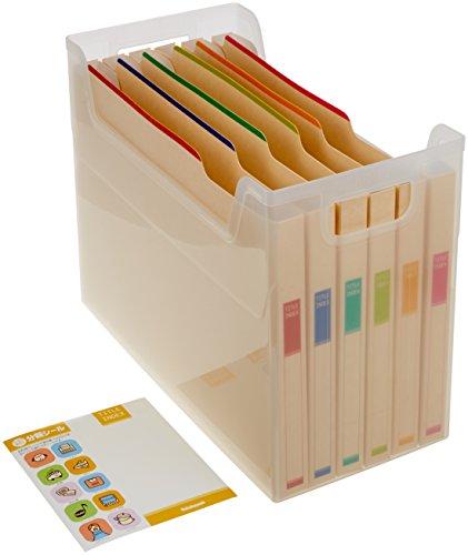 ナカバヤシ ファイルボックス 書類収納ケース なげこみBOX F6 6分類 フボI-F6
