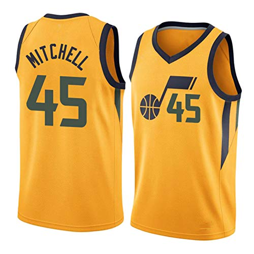 FGRGH Camiseta de baloncesto deportiva transpirable 2021, Jazz # 45, jugador de temporada 2020, perfecto para deportes al aire libre S ~ XXXL 2020 D-S