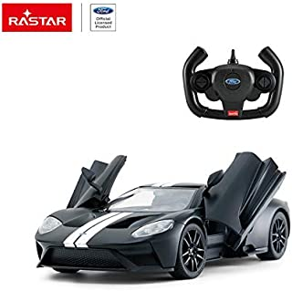 RASTAR 1/14 Scale Ford GT RC Open Door Radio Remote Control Model Toy Car R/C RTR Licensed Product (Matte Black)