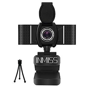 1080p Webcam mit Mikrofon - Kostenlose Geschenke Webcam Cover und Mini-Metallstativ enthalten. Plug & Play & Stativ-drehbarer Clip. Kein Treiber erforderlich. Diese USB-Webcam kann einfach mit einem USB-Anschluss eingerichtet werden, den Sie anschlie...