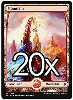 20 Battle for Zendikar Mountain #267 Magic the Gathering Basic FULL ART Land Lot