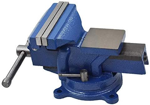 """discount 5"""" outlet online sale Bench Vise 2021 with Anvil 360° Swivel Locking Base Table top Clamp Heavy Duty Vice outlet sale"""