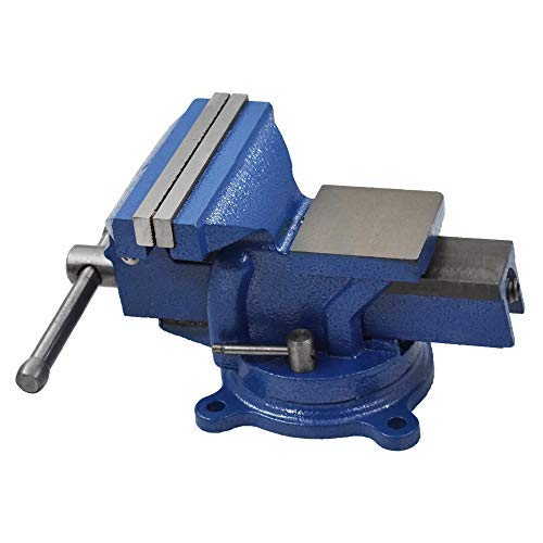 """5"""" Bench Vise with Anvil 360° Swivel Locking Base Table top Clamp Heavy Duty Vice"""