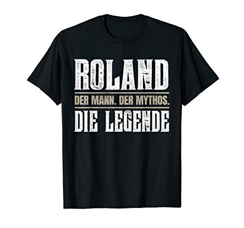 Vorname Roland T-Shirt Geschenk Name Roland