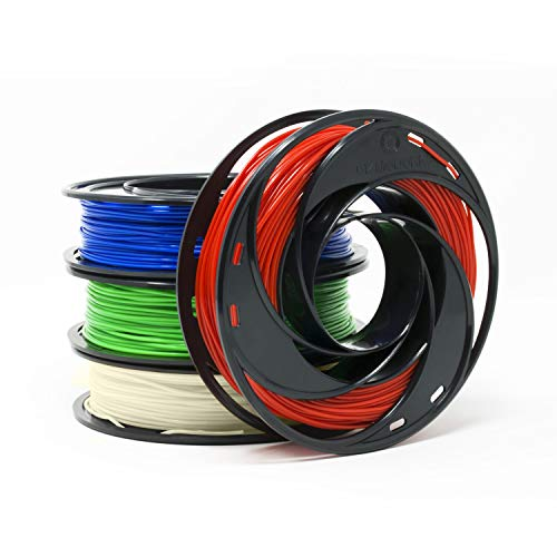 Gizmo Dorks Silk PLA Filament for 3D Printers 1.75mm 200g, 4 Color Pack - Blue, Green, Red, White