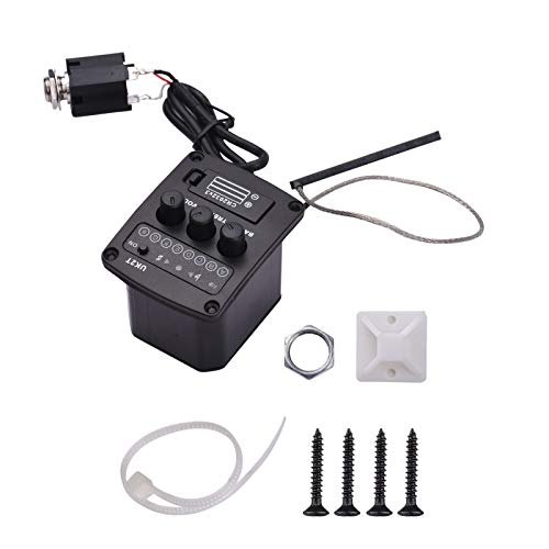 Peizo Ukulele Staright pickup preamp 2 band equalizador equalizador sistema sintonizador