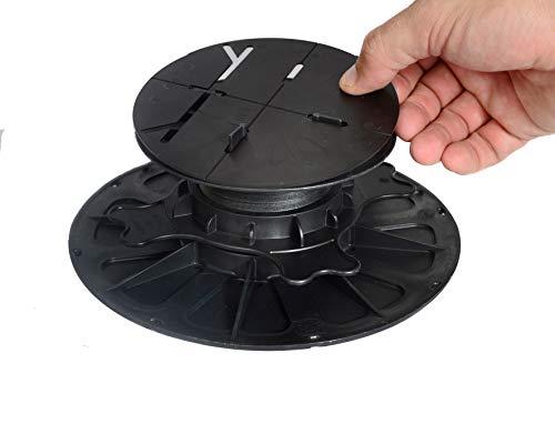 Gartenwelt Riegelsberger 1 Stück Premium Ausgleichsscheibe 1 mm HART PVC für Auflagefläche 130 mm von Premium Balkenlager & Plattenlager Scheibe zum Ausgleichen