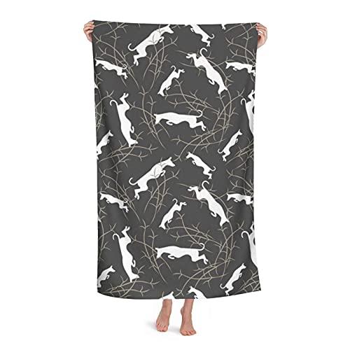 ZCHW Manta de baño Perros ibicencos Toalla de baño Suave Toallas Altamente absorbentes Toalla de...