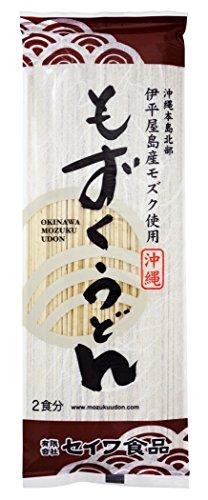 (有)セイワ食品 沖縄磯割り もずくうどん 160g(2食分)×10束