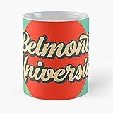 Retro Belmont University Logo – La migliore tazza da caffè in ceramica di marmo bianco