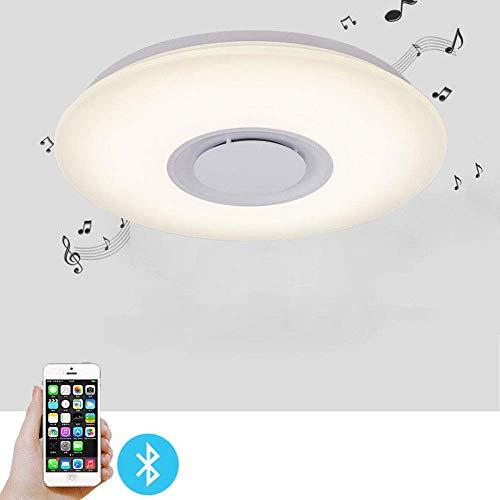 ZTKGB LED muziek plafondlamp 24W kleurverandering kinderkamer 19,6
