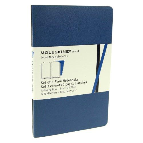 Moleskine Carnet Volant blanc Format de poche Set de 2 pièces Bleu Couverture souple 9 x 14 cm
