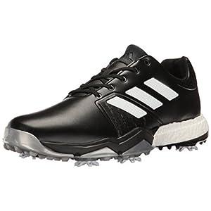 adidas Men's Adipower Boost 3 Golf Shoe, Black/White/Silver Metallic, 10.5 M US