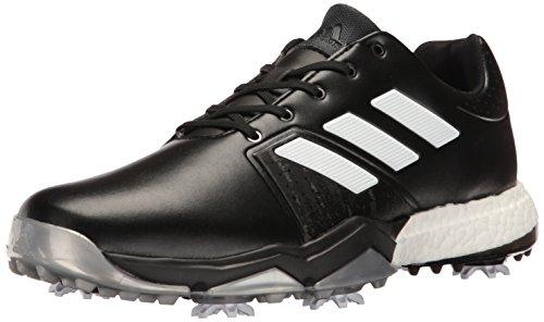 adidas Men's Adipower Boost 3 Golf Shoe, Black/White/Silver Metallic, 11.5 M US