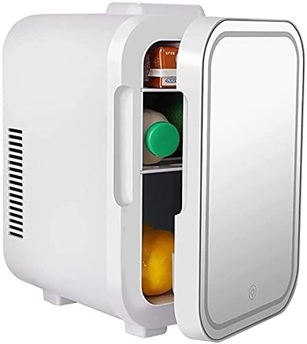 Peakfeng Pequeño refrigerador calefacción refrigerante Maquillaje Espejo Caja de luz refrigerador Coche Coche Coche Dos propósito 4l6l Mini refrigerado portátil Frio y cálido Caja (Size : 4L)