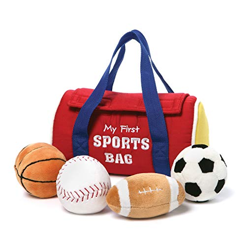 GUND Baby My First Sports Bag Stuffed Plush Playset, 5 Piece, 8'