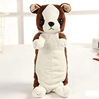 MARUIKAO ペンケース 筆箱 ぬいぐるみ 犬 かわいい 化粧用 化粧ポーチ 小物入れ セカンドバッグ ファッション 雑貨 ボールペン 大人 子供 共用 携帯に便利