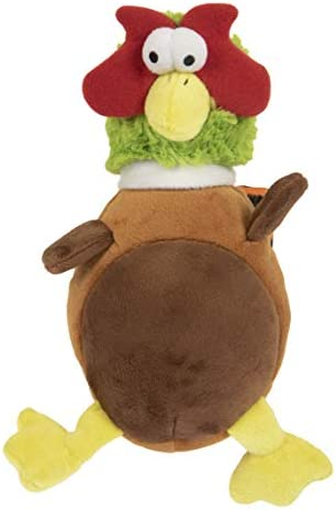 goDog Action Plush Pheasant Animated Squeaker Dog Toy Bite Activated Motion Chew Resistant Reinforced product image