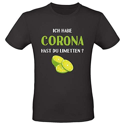 Shirt-Panda Unisex T-Shirt · Ich Habe Corona, hast du Limetten · Funshirt für Damen und Herren · 100{6f4d9e8a8e6ebbcc3d77216f142a039be270bf37b6ad214b36dcf1462051cfc3} Baumwolle · Fun Shirt ·
