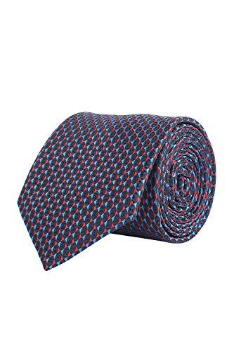 Louis Philippe Men's Synthetic Tie (LPTICRGFF000223_Blue_Free Size)