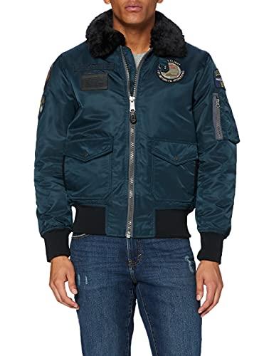 SCHOTT Oharavint Blouson, Bleu (Navy Navy), XX-Large (Taille Fabricant:XXL) Homme