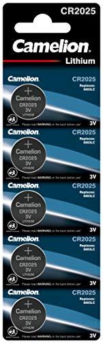 Camelion 13005025 Lithium Knopfzelle, CR2025, 3V, 5er-Pack, Blister