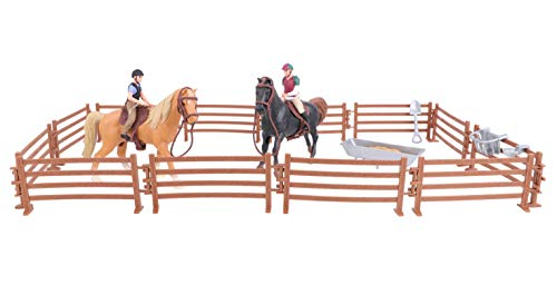 Toyland Horse & Jump Fence Playset With Accessories - Equestrian Toys