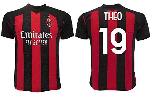 Maglia Theo Milan 2021 Ufficiale 2020-2021 Adulto Ragazzo Bambino Hernandez 19 (L Adulto)