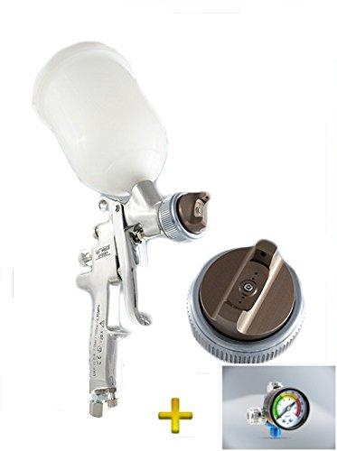 Anest Iwata AZ3 AirGunsa HTE2 AV Lackierpistole + Manometer (Düsengröße: 1,8mm)