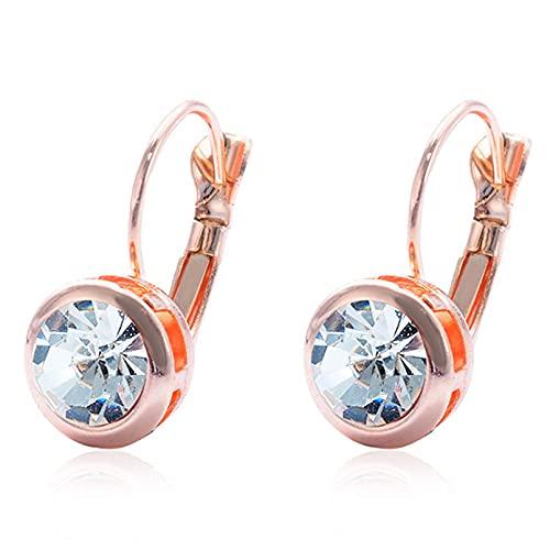 SMEJS Pendientes de cristal Brazalete de lujo con cristales Accesorios de joyería Fiesta Fecha Noche Decoración para mujeres Niñas Regalos, Blanco