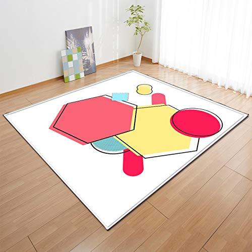LGXINGLIyidian Alfombra Arte De Dibujos Animados Simple Habitación Infantil. Alfombra Suave Antideslizante De Decoración del Hogar De Impresión 3D C-924U 160X230Cm