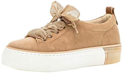 Gabor Damen Sneaker, Frauen Low-Top Sneaker,Best Fitting,Optifit- Wechselfußbett, feminin elegant Women's Women Woman,Caramel/Cuoio,39 EU / 6 UK