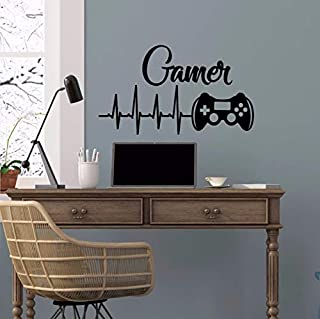 Dalxsh Game Controllers Video Game Design Wall Sticker Gaming Controller Vinyl Art 42x24cm