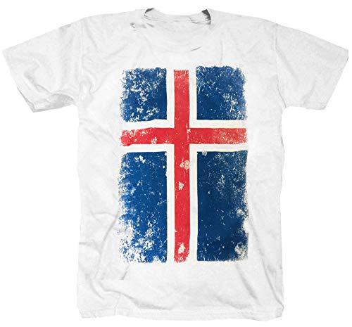 Island witte vlag Viking T-shirt