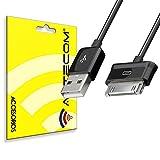 actecom Cable de Carga y Transferencia de Datos USB Negro Compatible con Samsung Galaxy Tab 2 10.1 P5100 Cargador