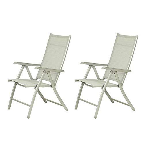 QARYYQ Inklapbare verstelbare rugleuning verstelbare armleuning in tuinstoel van aluminium stoel