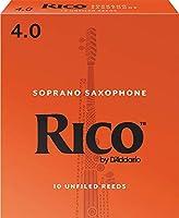 RICO リード ソプラノサクソフォーン 強度:4(10枚入)アンファイルド RIA1040