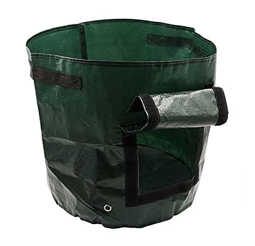 10 galones de batata cultivan bolsa 1 paquete Vegetal Grow Plant Bolsas con asas y aleta de acceso para verduras Frutas COBRE COBRE COWER HOME BOLSA ( Color : Green , Size : UK 10 Gallon 35x50cm )