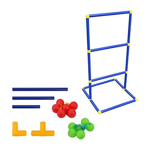 Wurfspiel Leitergolf,Leiter Ball Toss Game Set, Leiter Toss Classic Indoor Outdoor Hinterhof Sport Spiel für Erwachsene und Kinder