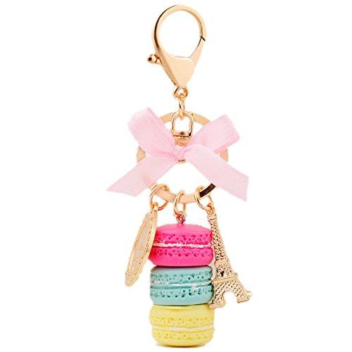 Macaron Eiffel Tower Keychain / Purse Pendant